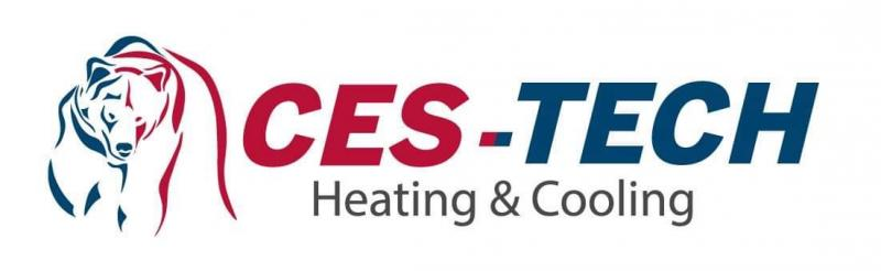 Refrigeration Technician  CES-TECH Heating & Cooling Logo